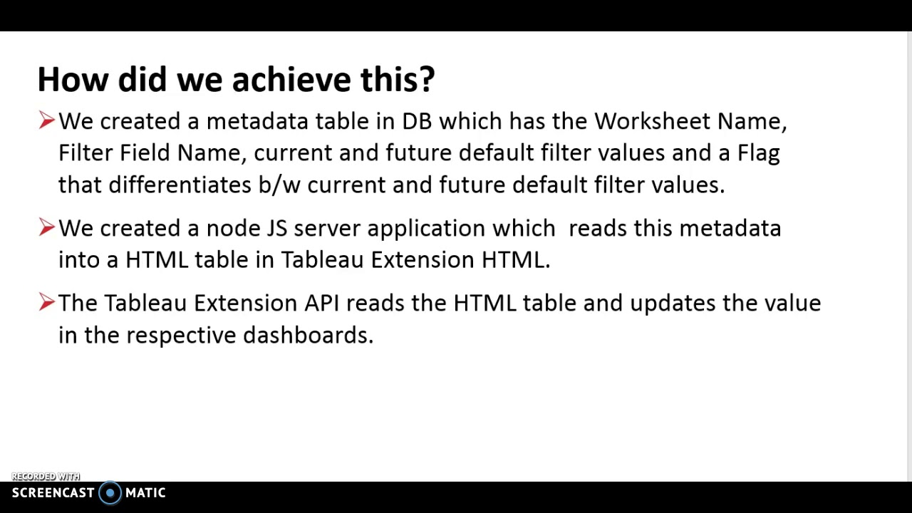 Change Default Filters using Tableau Extension API #datadev #hacktc17