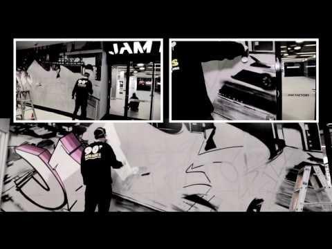 Graffiti artist at the Jam Factory!