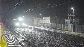 4K画質【GV-E197系 TS01編成 仙山線性能試験 雨の楯山通過 試9843D】仙山線(楯山)2021.4.30