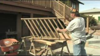 How To Build A Deck : Building A Deck: Place Stair Railing