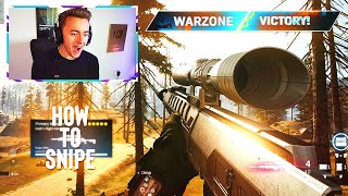 HOW TO SNIPE in COD WARZONE.. (best tips & tricks)