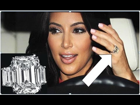 Kim Kardashians 20 Carat Engagement Ring From Kris Humphries Sells At Auction For 749000