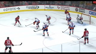 Kane and Panarin Toy with the Islanders Before Scoring (10/10/15)
