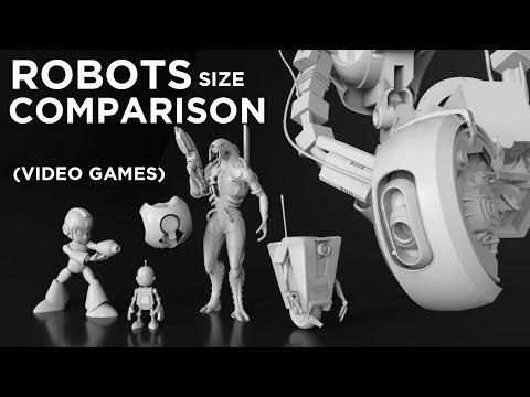 Video game ROBOTS | 3D Comparison |