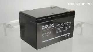видео Аккумулятор Delta DT 12 12, аккумулятор Дельта DTM 1212 12v 12ah