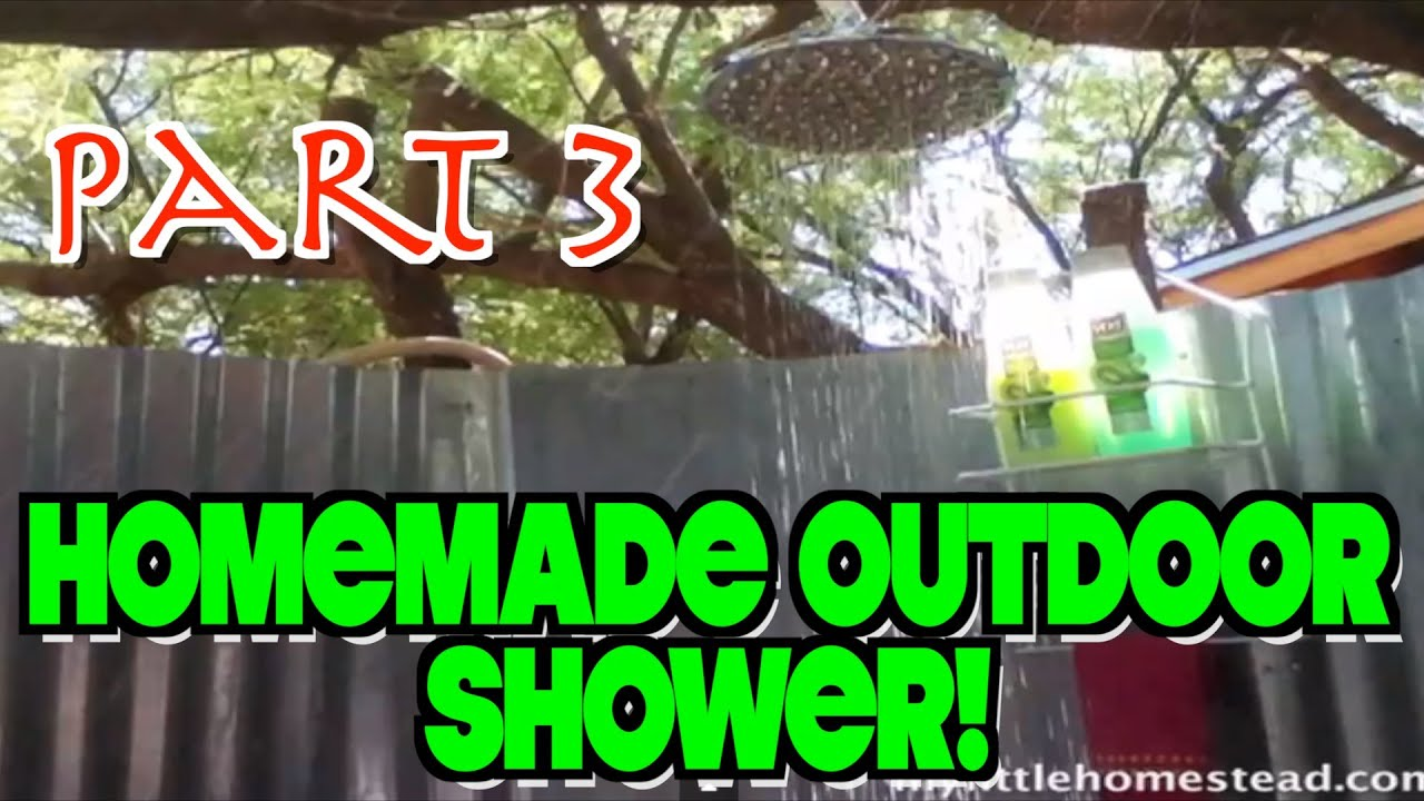 Rain Shower Head for our Homemade Outdoor Shower (Part 3 of 4) - YouTube
