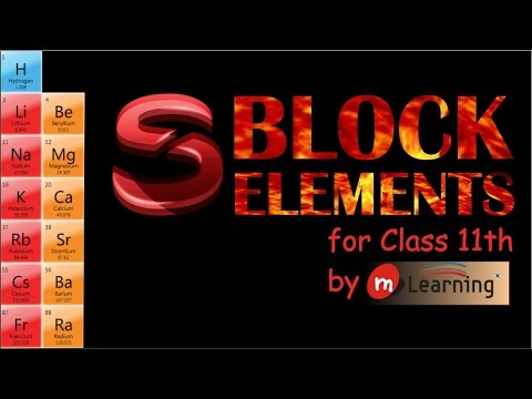 S Block Elements: Occurrence, Electronic...
