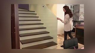 Лестница от lestnica100.ru для ИДЕАЛЬНОГО РЕМОНТА  Анны Снаткиной и Виктора Васильева (13 02 2016)