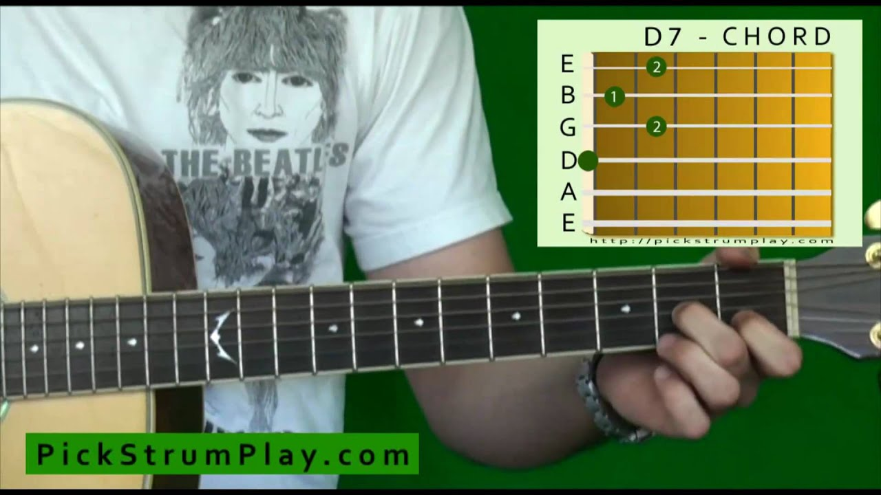 How To Play A D7 Chord On Guitar Youtube