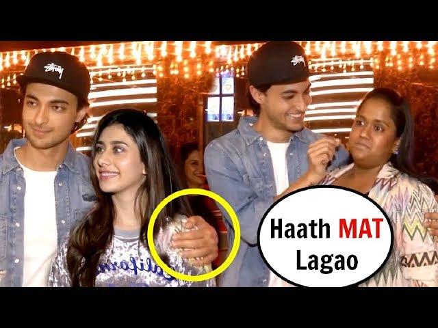 Arpita Khan ANGRY On Aayush Sharma For TOUCHING Warina Hussain At Loveratri