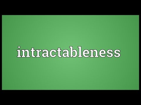Header of intractableness