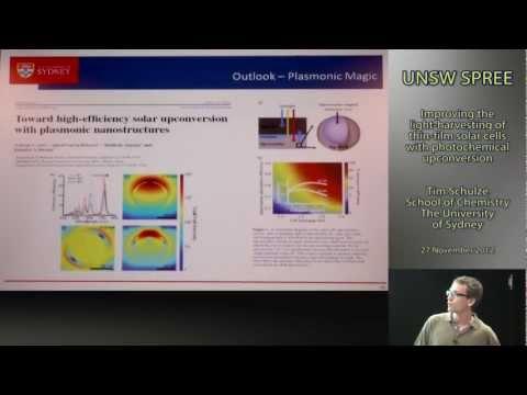 UNSW SPREE 2012-11-27 Tim Schulze - Light-harvesting of thin-film solar cells with PC upconversion