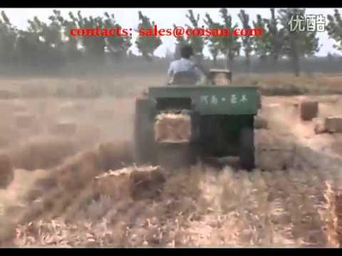 Straw Harvesting and Baling Machine