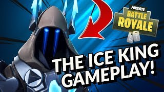 The ICE KING Skin Gameplay! In Fortnite Battle Royale