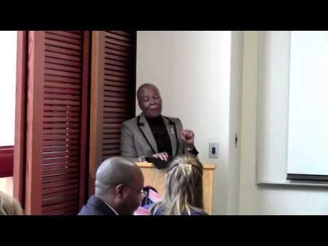 Tebelelo Seretse visits The Gillings School: Part 1