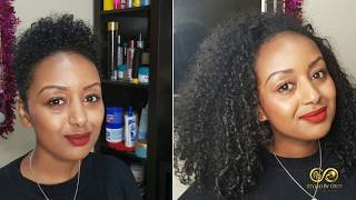 Hair Transformation: Long natural curly hair to short curly hair #NaturalHair #Transformation #Curls