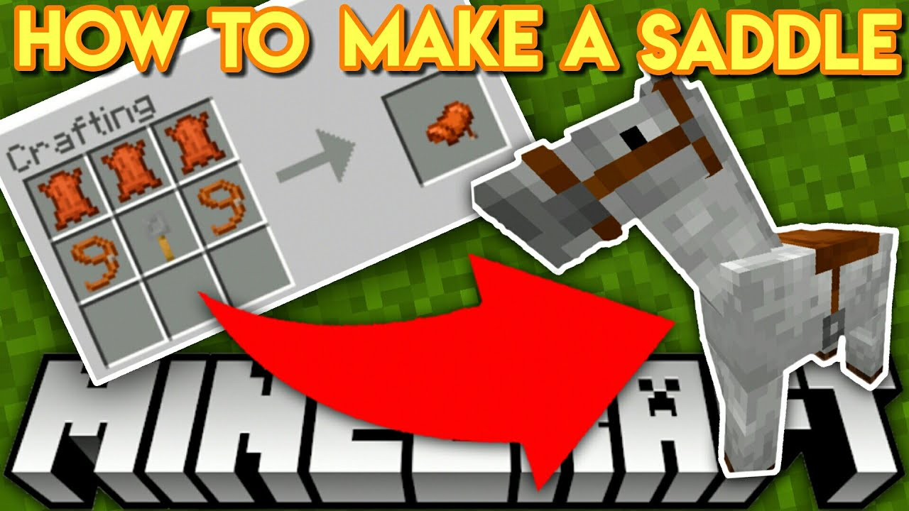 How to craft a saddle and other non craftable items in Minecraft MCPE &  Bedrock !!!