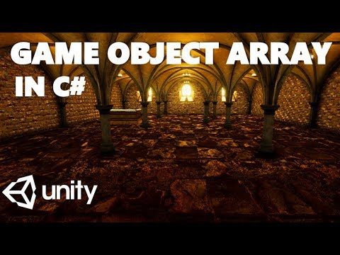 HOW TO CREATE A GAME OBJECT ARRAY IN C# UNITY TUTORIAL thumbnail