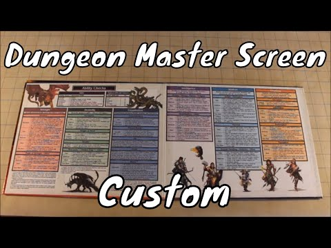 graphic regarding Printable Dm Screen 5e referred to as Personalized Dungeon Study Display DD 5E - YouTube