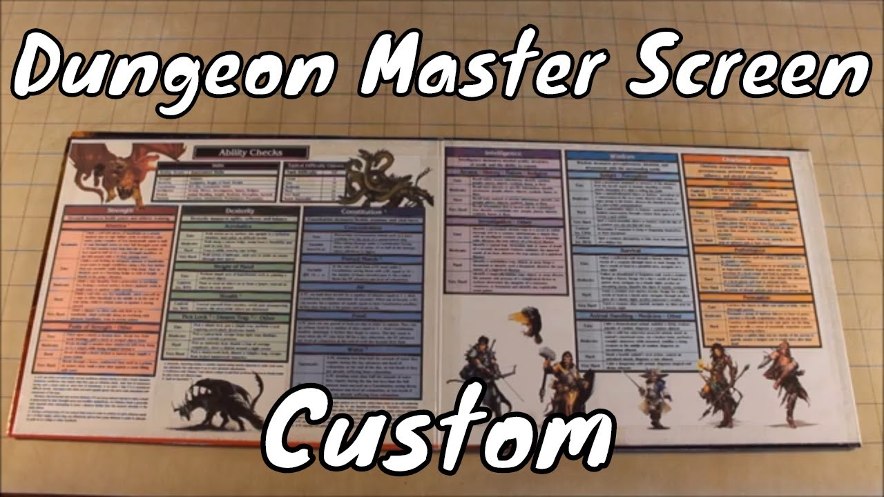 photograph regarding Printable Dm Screen 5e named Tailor made Dungeon Discover Display screen DD 5E