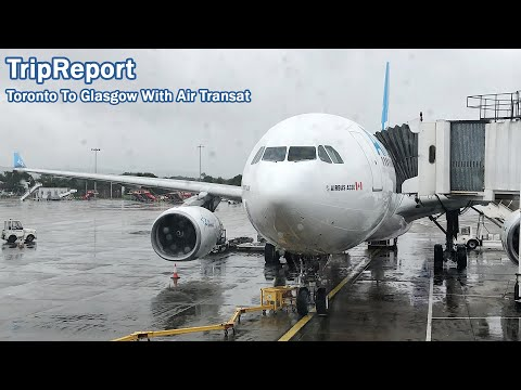 AIR TRANSAT's 3-3-3 ECONOMY CLASS | TripReport | Toronto to Glasgow | A330-200