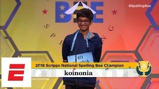 Scripps National Spelling Bee Highlights: Karthik Nemmani Wins It On 'koinonia' | ESPN