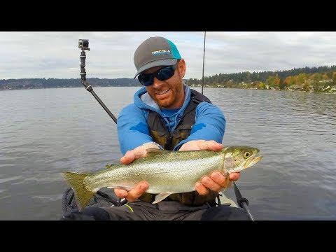 Kayak Fishing: Cutthroat Trout in Seattle | #FieldTrips Ep 11