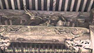 天津神社 本殿 諏訪神 建御名方命の母、奴奈川姫を祭る 新潟県糸魚川市一の宮1丁目3−34