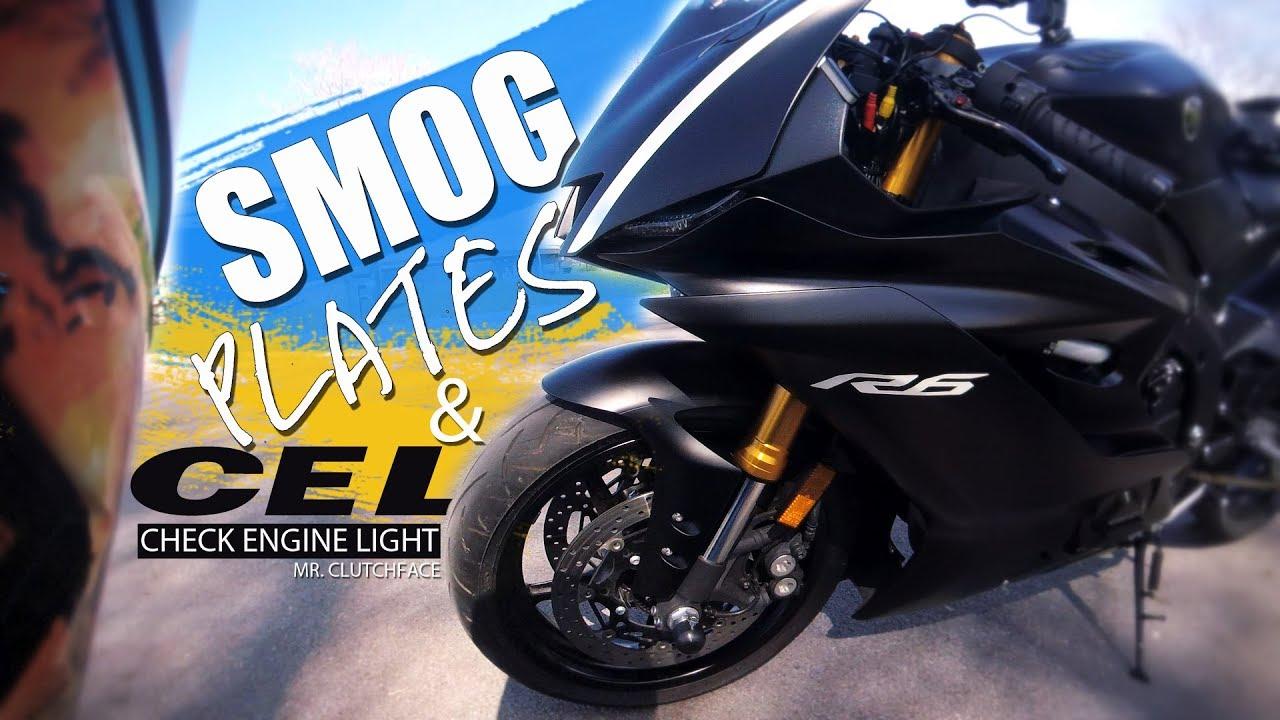 Yamaha R6 Smog Plates & Check Engine Light