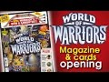 World of Warriors cards opening - opening the magazine pack