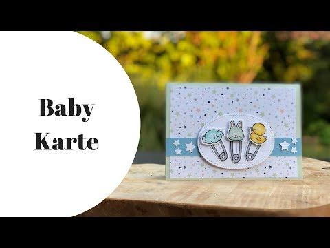 📍Anleitung: Babykarte Karte zur Geburt mit Stampin' Up! basteln