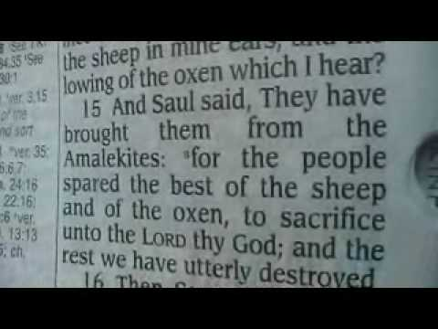 1 Samuel 15 Holy Bible (King James)