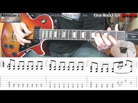 Best of Rock: Him WICKED GAME Gitarren Tutorial Lesson + TABS CHORDS NOTEN