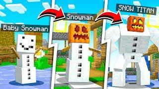 LIFE OF A SNOWMAN TITAN IN MINECRAFT!