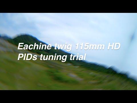 Фото マイクロドローンEachine twig 115mm PID調整テスト飛行