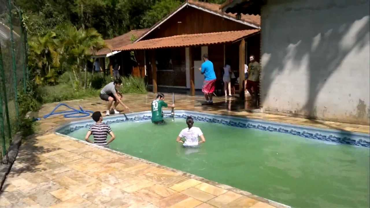 Estreando a piscina da ch cara hd youtube for Piscina de r 100