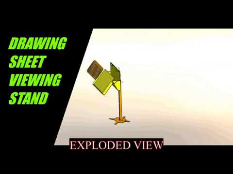 MAKING OF DRAWING SHEET VIEWING STAND