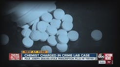 A crime lab analyst in Florida has been arrested on drug charges
