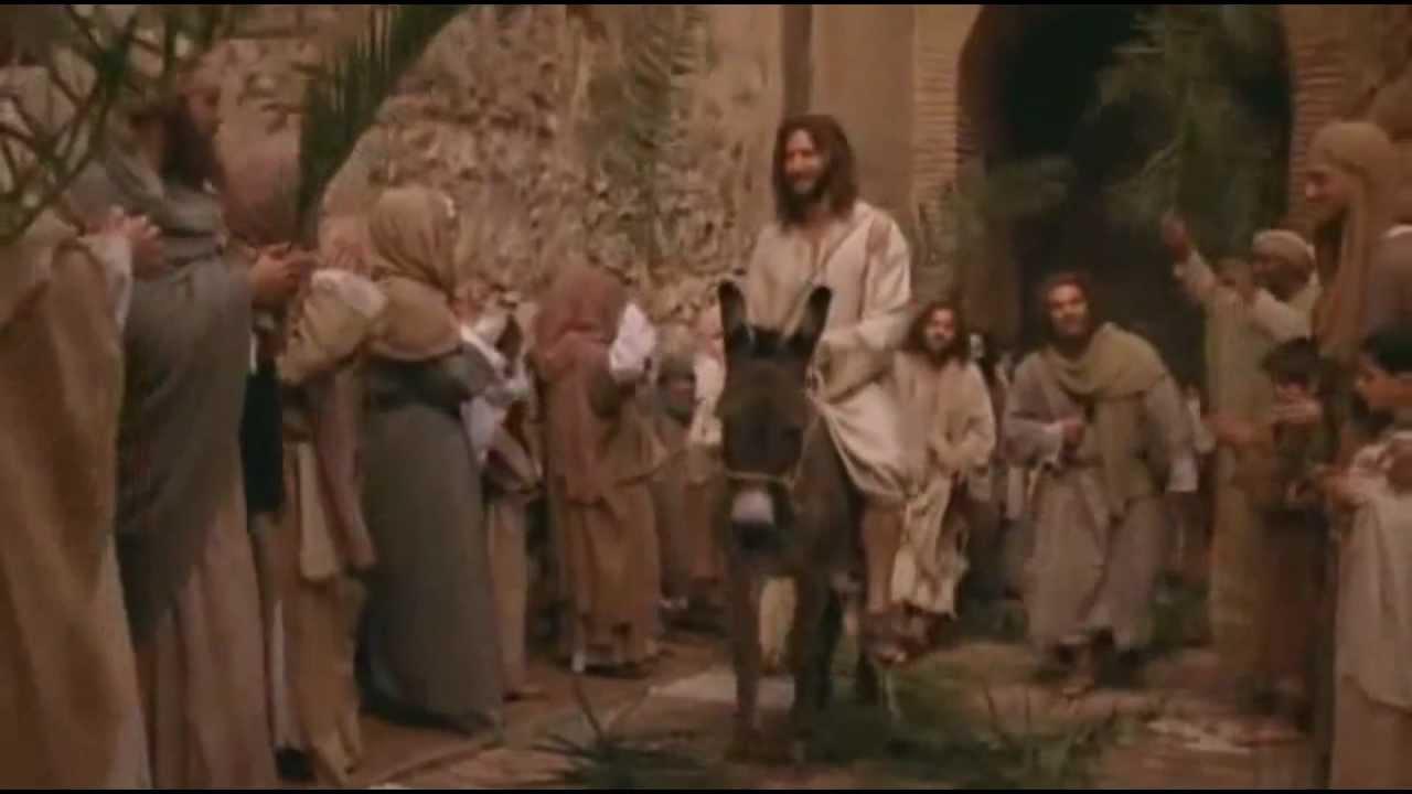 jesus triumphant entry into jerusalem palm sunday youtube