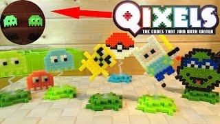 Квикселс СВЕТЯТСЯ - Qixels Дизайнер - Пиксельные игрушки - 8 bit - Pokemon - Pacman - TMNT