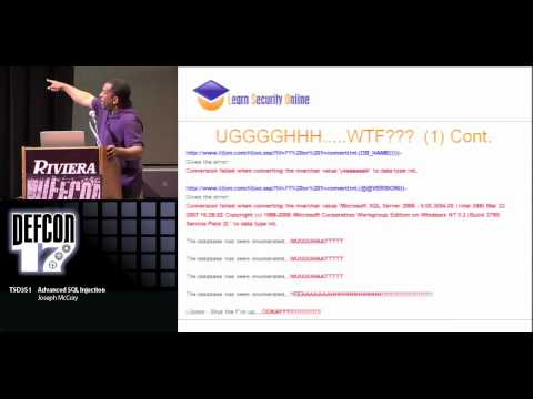 DEFCON 17: Advanced SQL Injection
