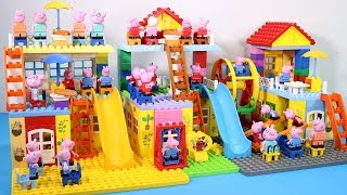 Peppa Pig Lego House Creations With Water Slide Toys For Kids #10