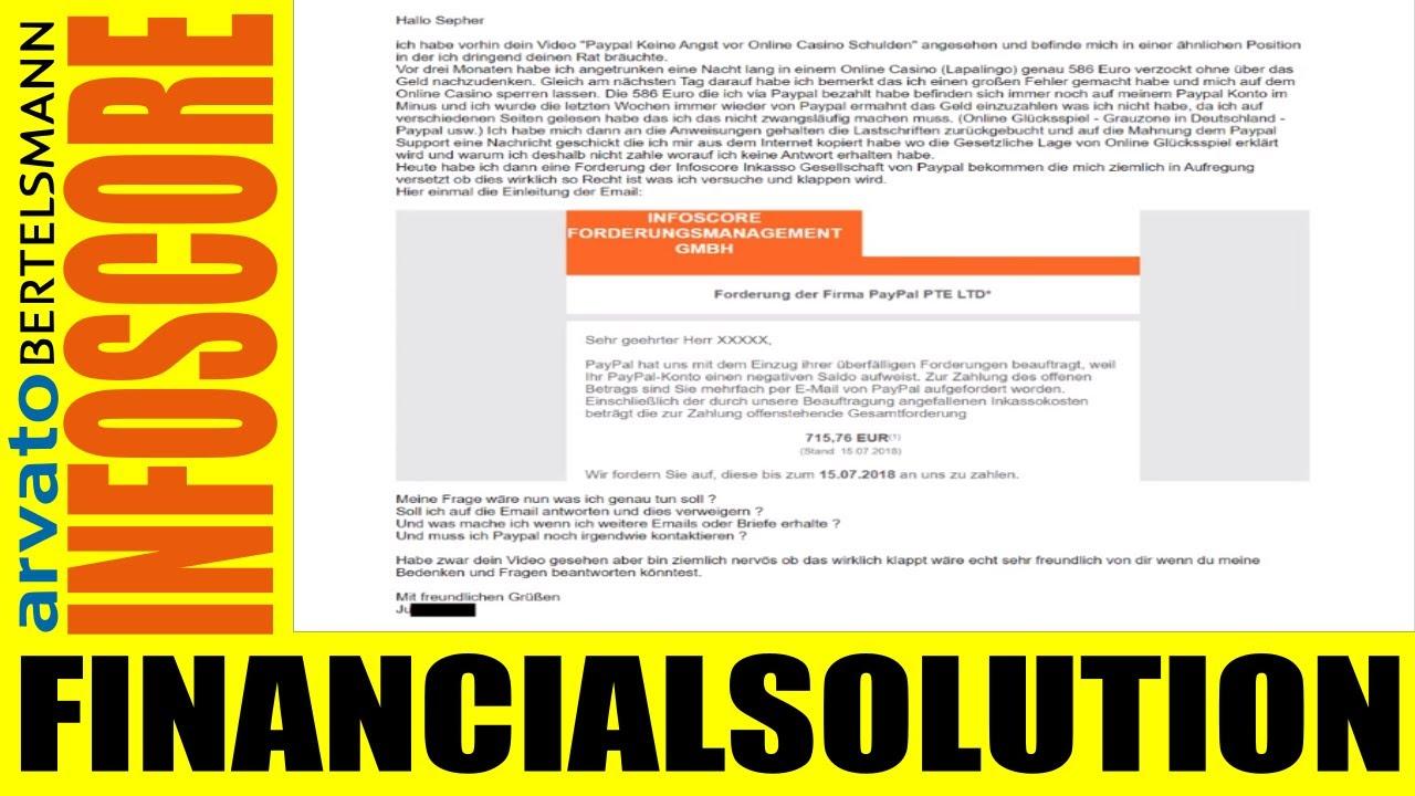 Paypal Inkasso Infoscore