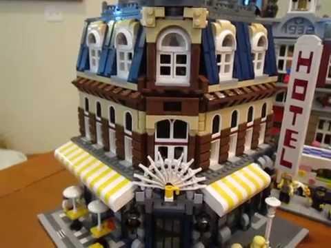 Lego Cafe Corner With Custom Interior Youtube