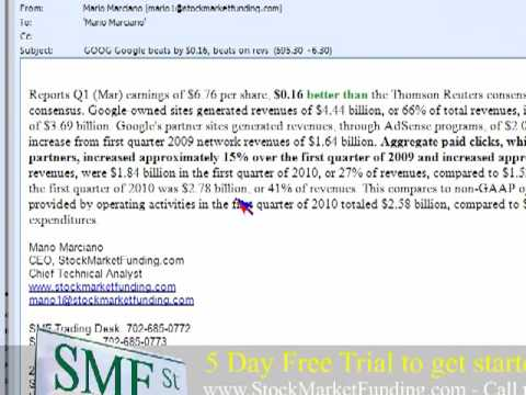 """Google Earnings"" LIVE! Trading Video HUGE DOWN in (GOOG) Stock Price to $30 Pt 2"