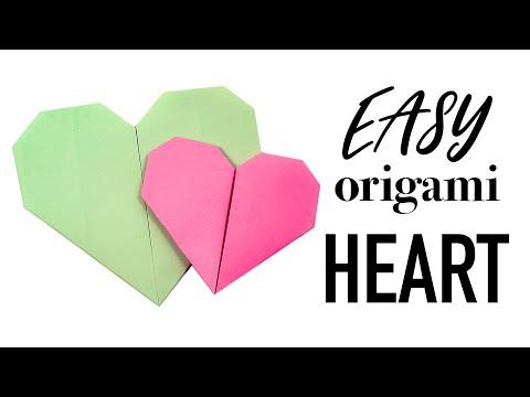 Easy Origami Heart Tutorial - DIY - Paper Kawaii