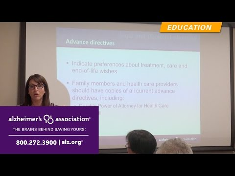 Caregiver Training: Legal Planning for Long Term Care