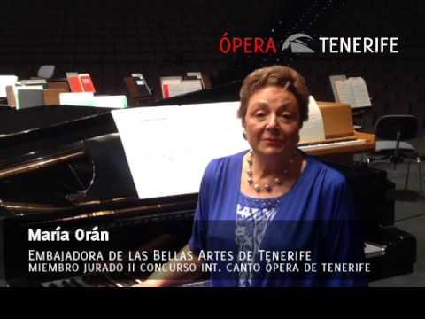 María Orán invita a la Gala Lírica de Galardonados 2014