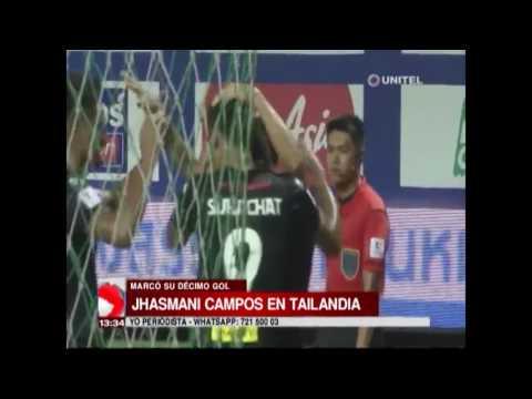 Jhasmani Campos marcó su décimo gol en el fútbol de Tailandia