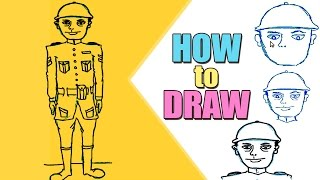 Teaching Children to Draw : How To Draw Soldier